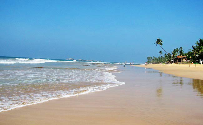 Hikkaduwa famous beach in galle