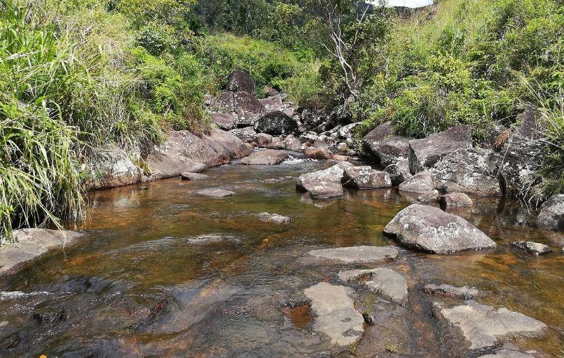 Lanka patna or the slidding rock Deniyaya